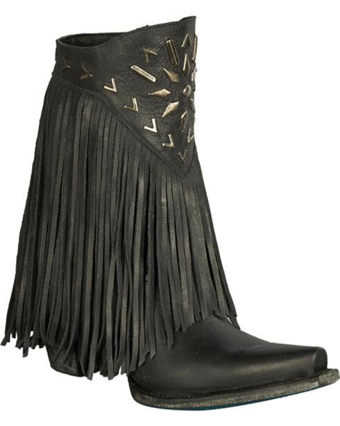 Lane Fringe It Cowgirl Boots - Snip Toe , Black, hi-res