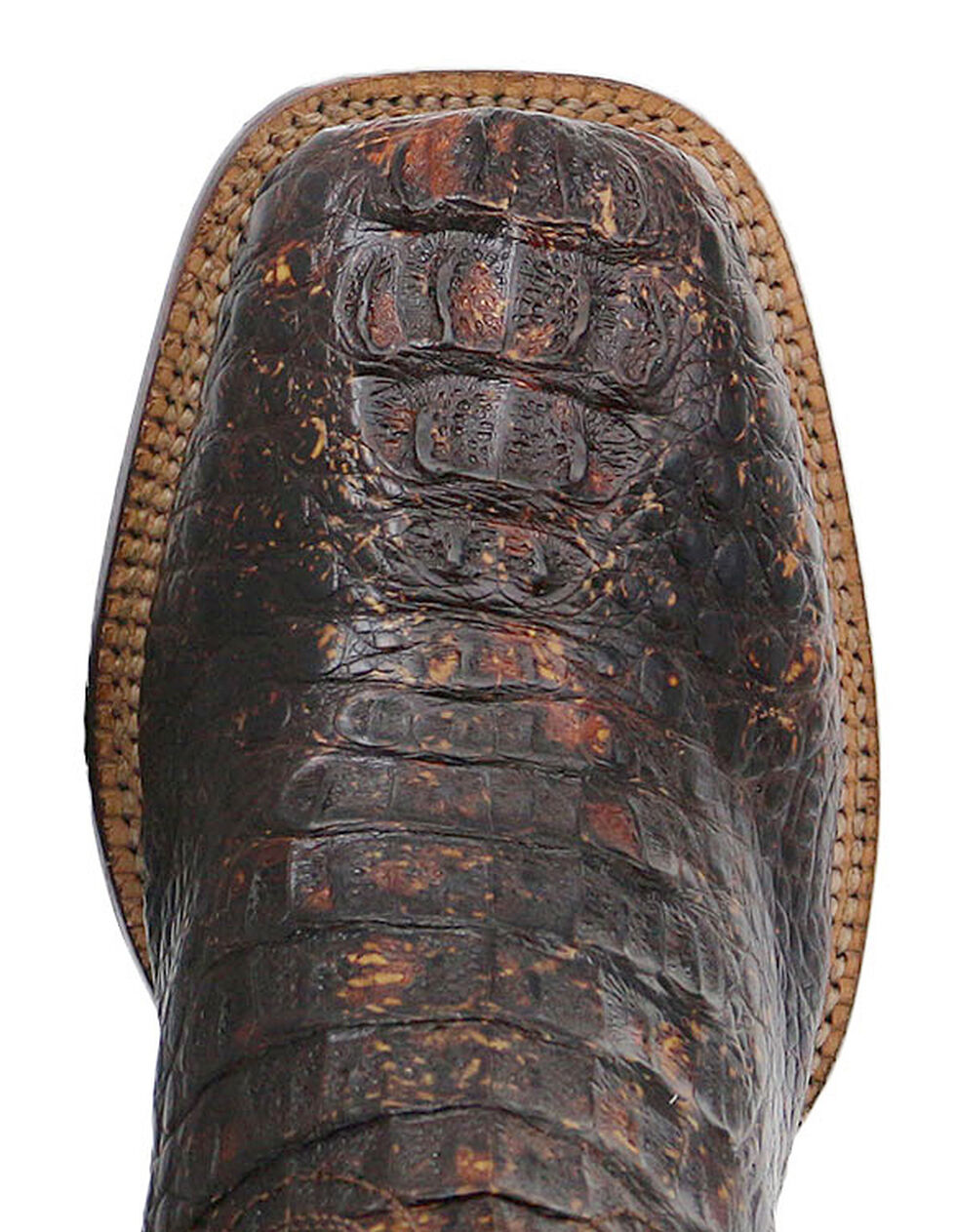 El Dorado Handmade Caiman Cowboy Boots - Square Toe, Suntan, hi-res