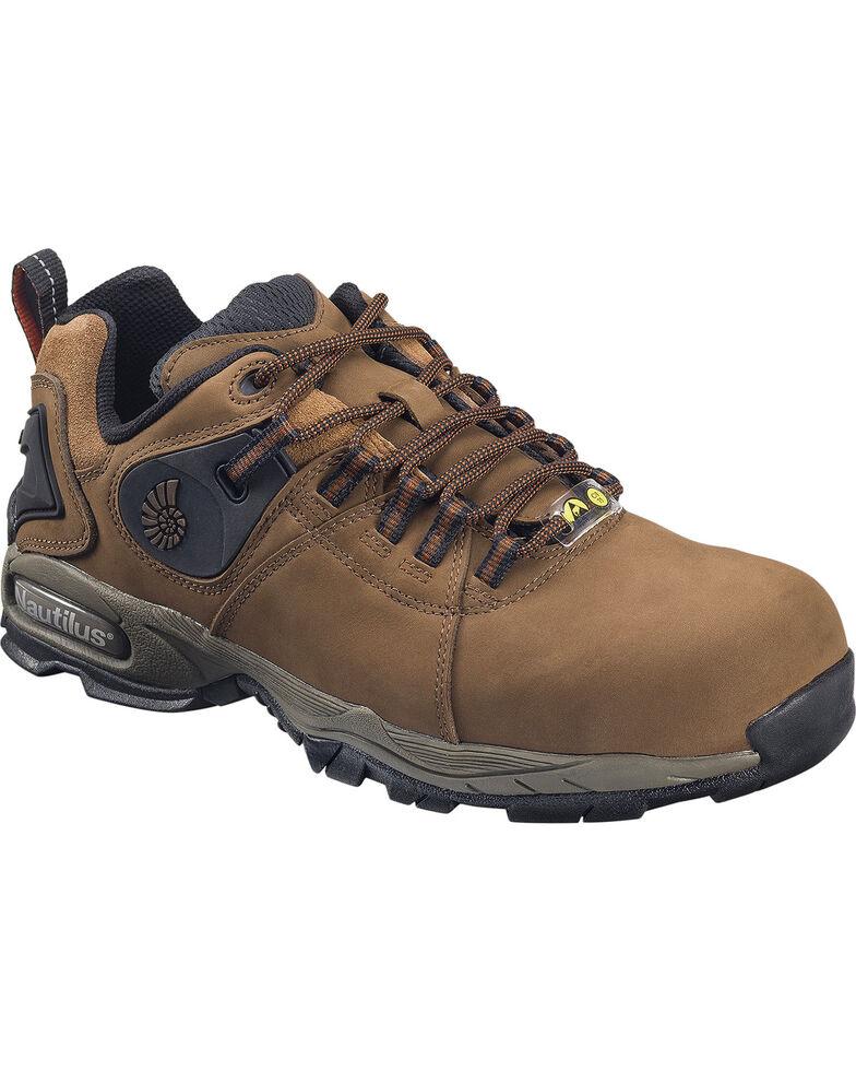Nautilus Women's Brown Ergo Athletic Work Shoes - Composite Toe, Brown, hi-res