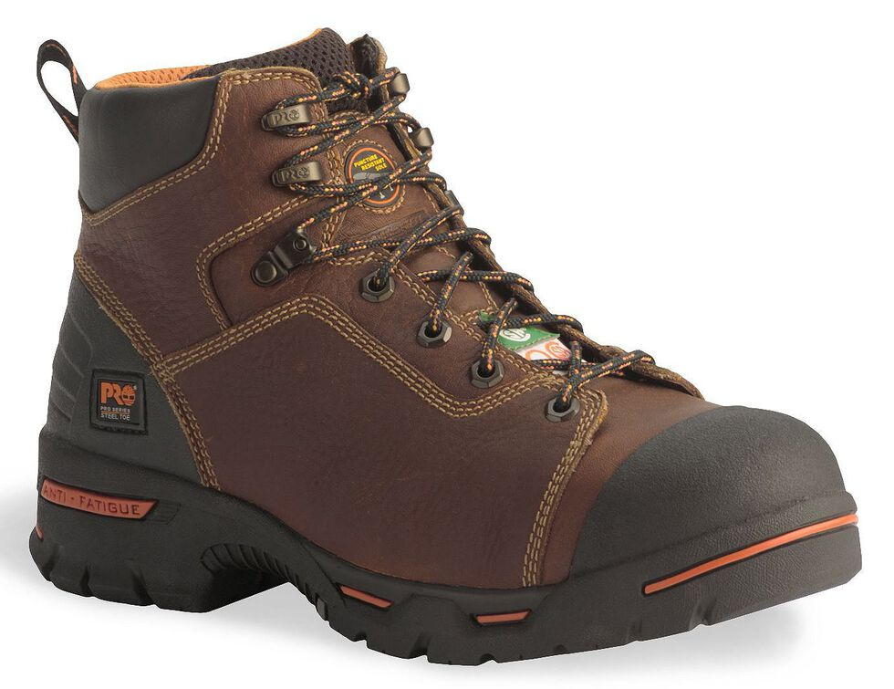"""Timberland Pro Waterproof Endurance 6"""" Lace-Up Boots - Steel Toe, Brown, hi-res"""