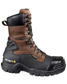 "Carhartt 10"" Waterproof Insulated Pac Boots - Composite Toe, Black/brown, hi-res"
