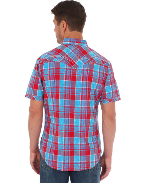 Wrangler Rock 47 Men's Red Checkered Western Shirt , Red, hi-res