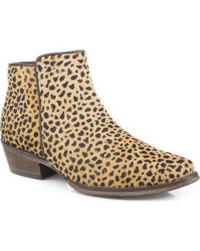 Roper Women's Tan Cheetah Hair Western Boots - Snip Toe, Tan, hi-res