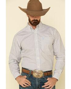 Ariat Men's Jollybrook Aztec Geo Print Fitted Long Sleeve Western Shirt , White, hi-res