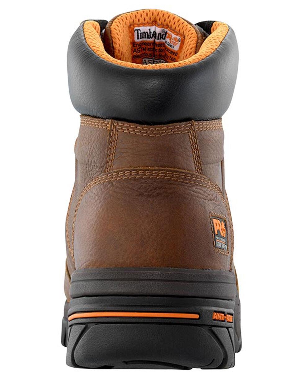 "Timberland Pro Men's 6"" Helix Waterproof  Work Boots - Alloy Toe , Brown, hi-res"