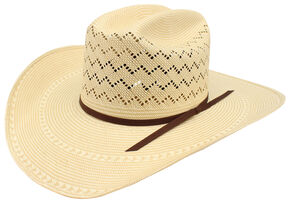 Ariat 20X Double S Straw Cowboy Hat , Natural, hi-res