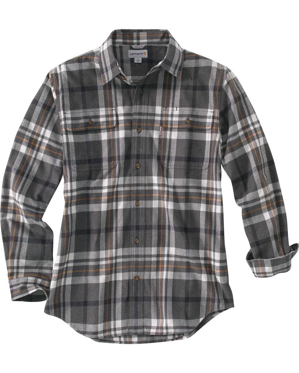 Carhartt Men's Hubbard Classic Plaid Shirt, Granite, hi-res