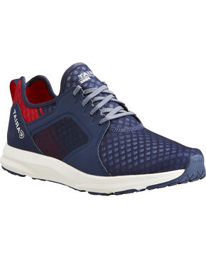 Ariat Men's Navy Fuse Team Shoes , Navy, hi-res