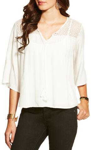 Ariat Women's Garland Tunic, White, hi-res
