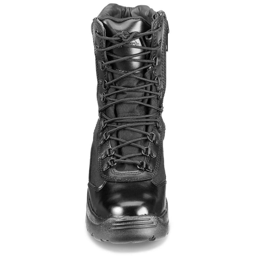 "Rocky 8"" Fort Hood Zipper Waterproof Duty Boots, Black, hi-res"