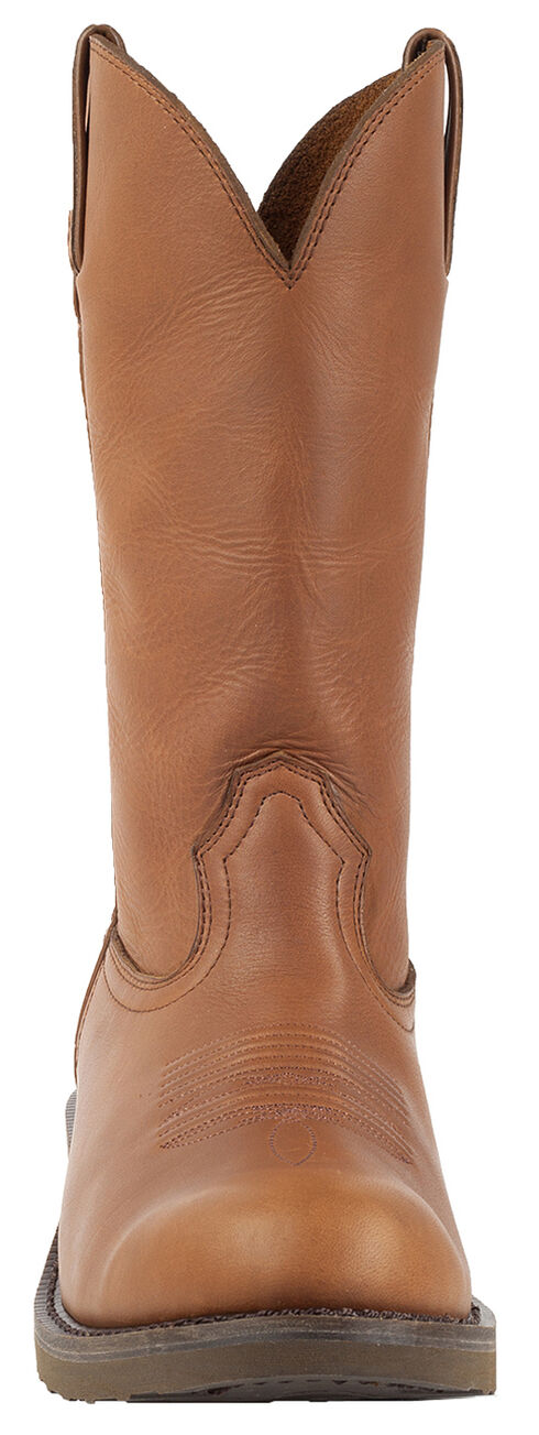Durango Tan SPR Leather Farm and Ranch Boots - Round Toe, Tan, hi-res