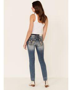 Miss Me Women's Hailey Skinny Jeans, Dark Blue, hi-res