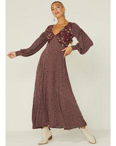 Free People Women's Love Story Maxi Dress, Purple, hi-res