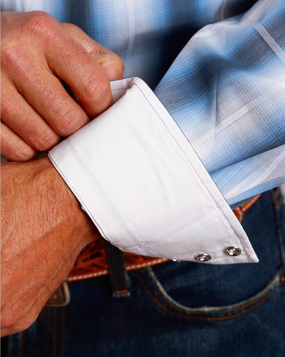 Stetson Men's Blue Dove Ombre Long Sleeve Snap Shirt, Blue, hi-res