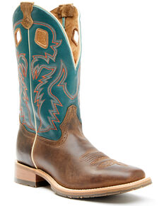 Double H Men's Elliott Western Boots - Wide Square Toe, Brown, hi-res