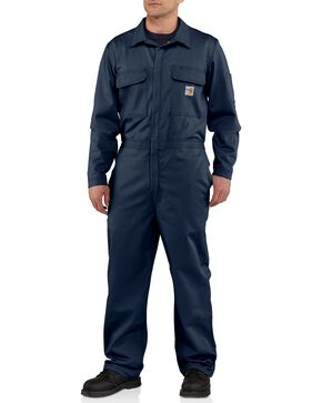 Carhartt Flame Resistant Classic Twill Coveralls - Big & Tall, Navy, hi-res