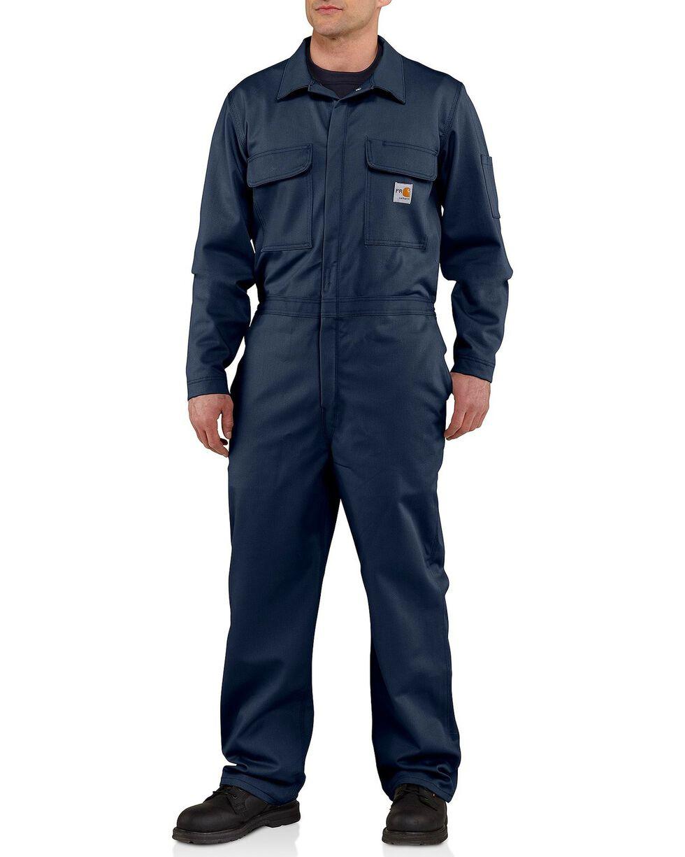 Carhartt Flame Resistant Classic Twill Coveralls - Big & Tall, Navy, hi-res