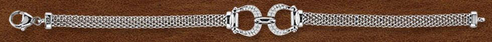 Kelly Herd Sterling Silver Mesh Bit Bracelet , Silver, hi-res