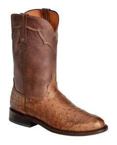 Lucchese Handcrafted Full Quill Ostrich Napoli Roper Cowboy Boots, , hi-res