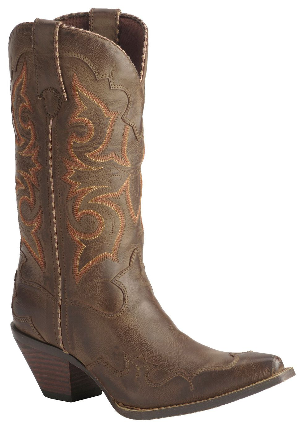 Durango Rock N' Scroll Cowgirl Boots, Saddle Tan, hi-res
