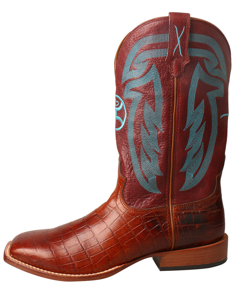 Twisted X Men's Hooey Western Boots - Wide Square Toe, Brown, hi-res