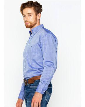 Resistol Men's Holbrook Button Down Long Sleeve Shirt, Blue, hi-res