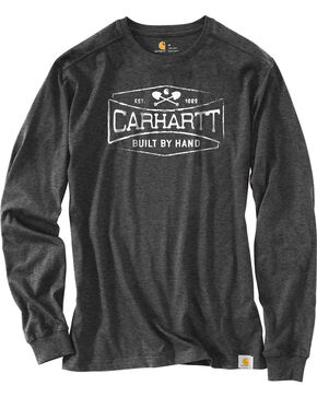 Carhartt Men's Maddock Graphic Handmade Long-Sleeve T-Shirt , Heather Grey, hi-res