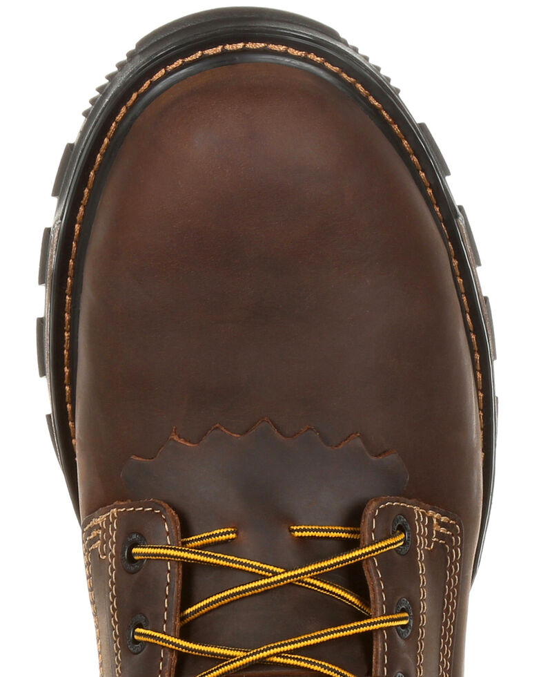 Durango Men's Maverick Waterproof Work Boots - Steel Toe, Brown, hi-res