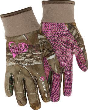 Scentlok Technologies Women's Wild Heart Gloves , Camouflage, hi-res