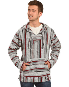 Senor Lopez Men's Red Baja Pullover, Red, hi-res