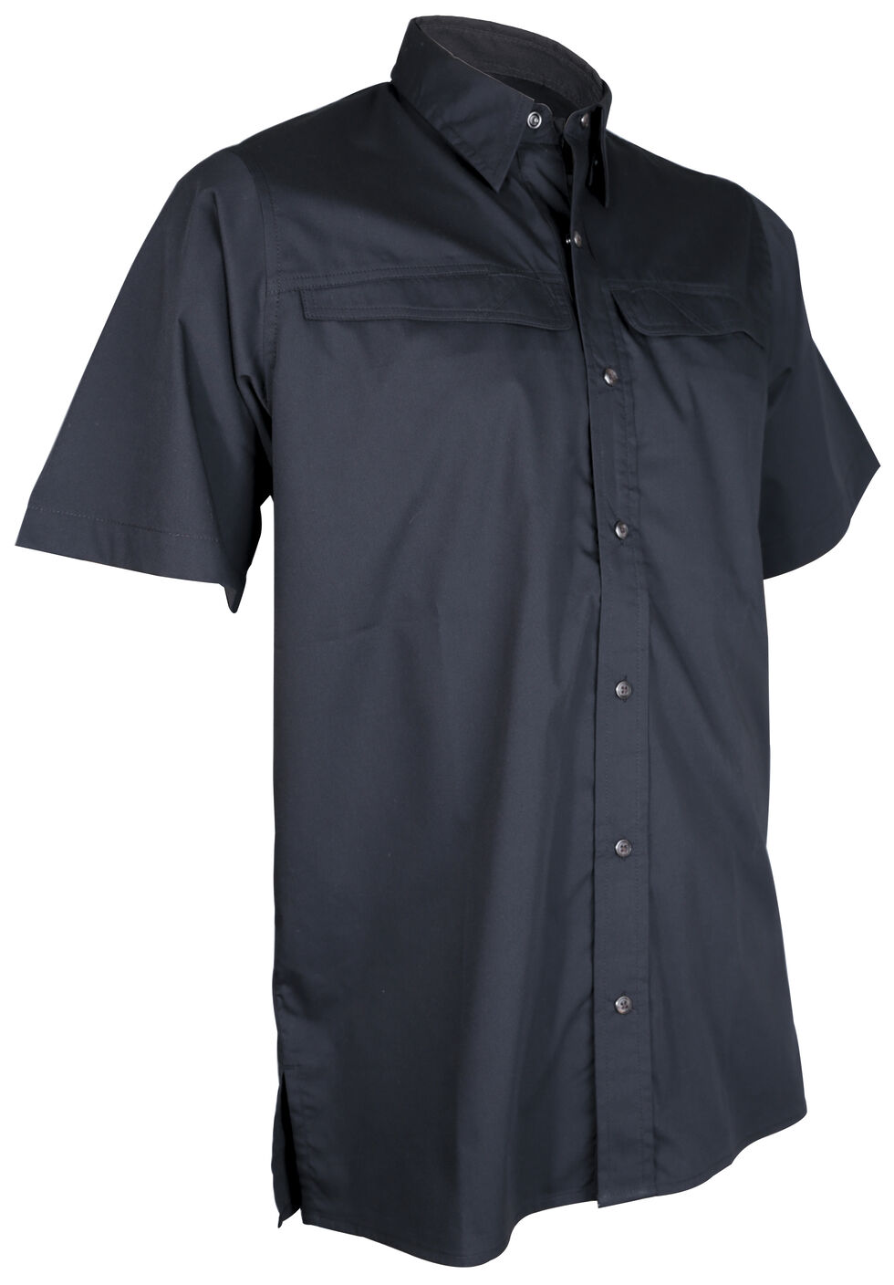 Tru-Spec Men's Black Pinnacle Short Sleeve Shirt , Black, hi-res