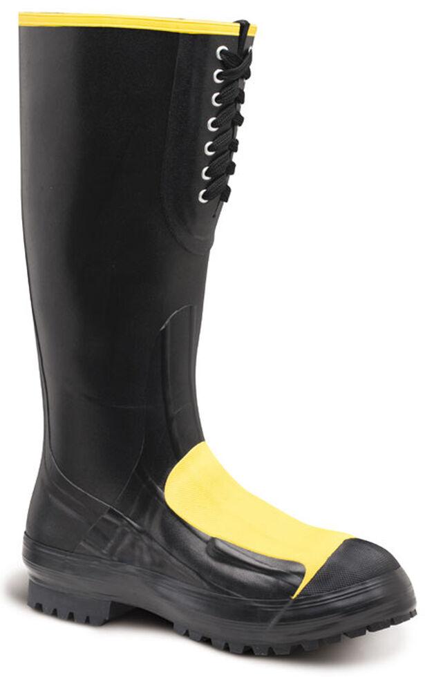 LaCrosse Men's Met Guard Rubber Work Boots - Steel Toe , Black, hi-res