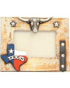 "Texas Longhorn Wooden Photo Frame - 4"" x 6"", Brown, hi-res"
