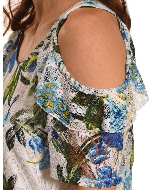 Harlow & Rose Women's Blue Floral Printed Top , Blue, hi-res