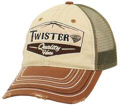 Twister Logo Patch Cap, Tan, hi-res
