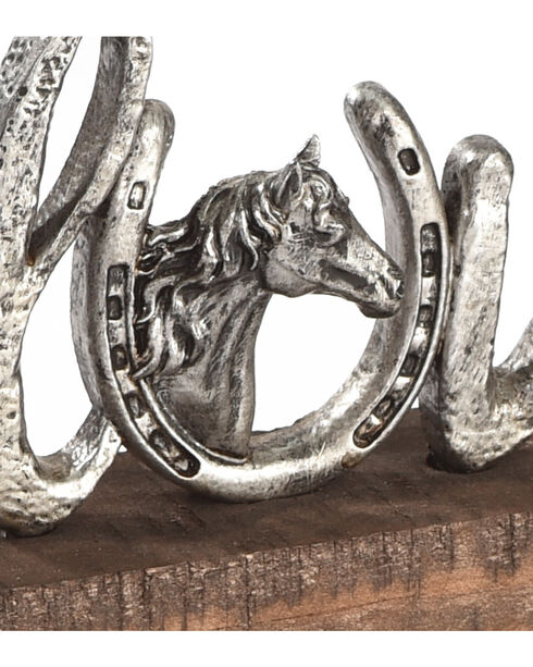 BB Ranch Love with Horseshoe Décor, Silver, hi-res