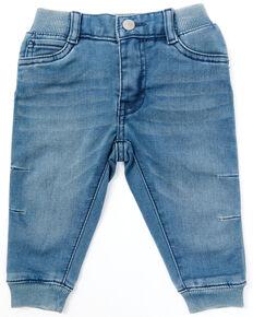 Levi's Infant Boys' Dark Wash Rib Waist Denim Jogger Pants , Blue, hi-res