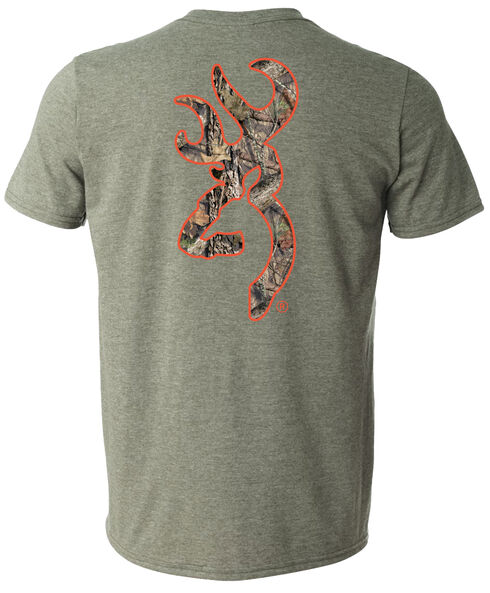Browning Men's Mossy Oak Country Buckmark Green Short Sleeve Tee, Green, hi-res