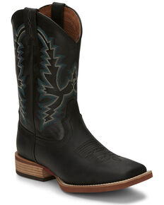 Details zu Justin Men's Farm & Ranch Synthetic Cowboy Boots BUY IT NOW $69!