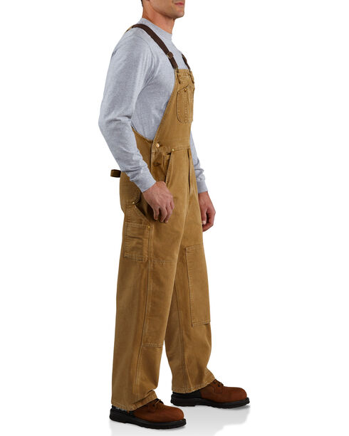 Carhartt Duck Bib Unlined Overalls - Big & Tall, Brown, hi-res