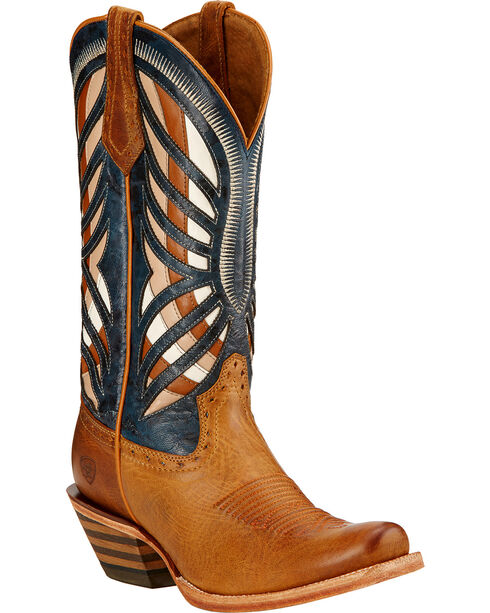 Ariat Gentry Performance Riding Cowgirl Boots - Square Toe , Honey, hi-res