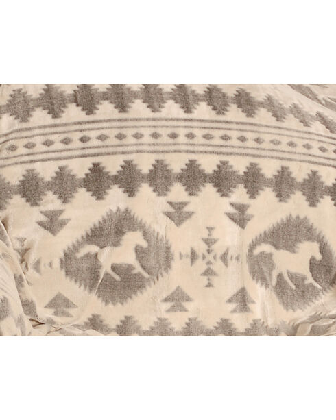 BB Ranch Running Horse Everyday Blanket, Grey, hi-res