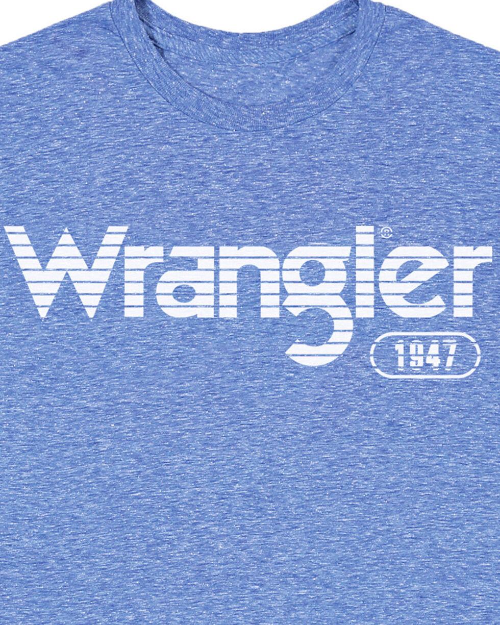 Wrangler Men's Light Blue Striped Logo Tee , Navy, hi-res