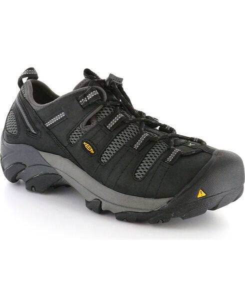 Keen Men's Black Utility Atlanta Cool Work Shoes - Steel Toe , Black, hi-res