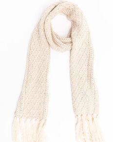 Shyanne Women's Cream Chunky Knit Scarf, Cream, hi-res