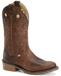 Double H Men's Kilgore Western Boots - Round Toe, Brown, hi-res