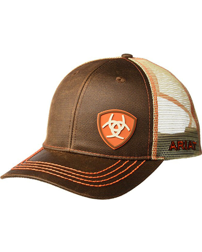 Ariat Men s Brown Oilskin Shield Logo Baseball Cap  6d4fc9fc99f