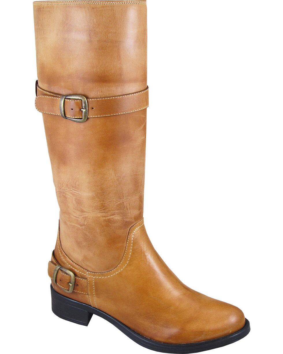 Smoky Mountain Donna Tall Riding Boots - Round Toe, Tan, hi-res