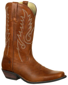 Durango Men's Gambler Western Boots - Square Toe, Brown, hi-res