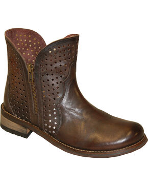 "Abilene Women's 5"" Ventilated Zippered Boots - Round Toe, Brown, hi-res"